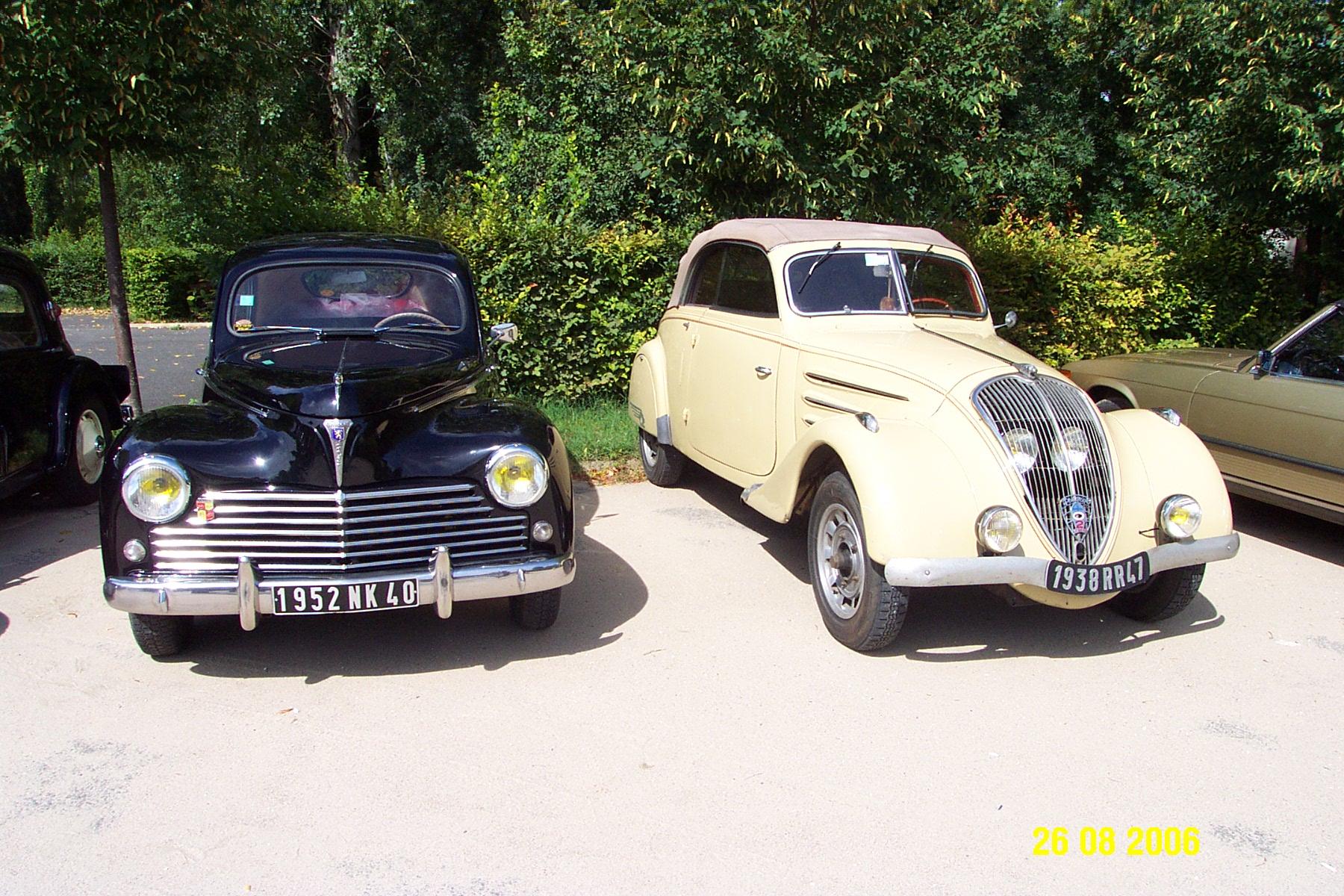 Peugeot 203A 1952 & 402 Cabriolet