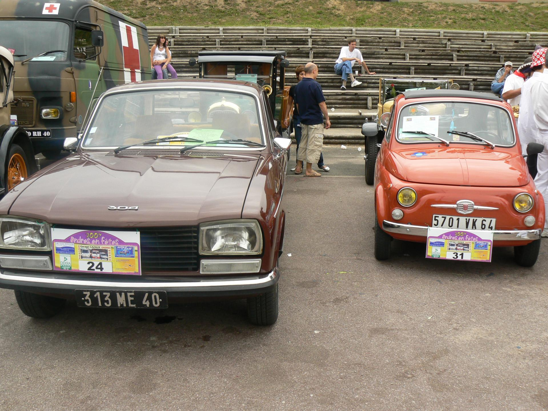 Peugeot 304 & fiat 500