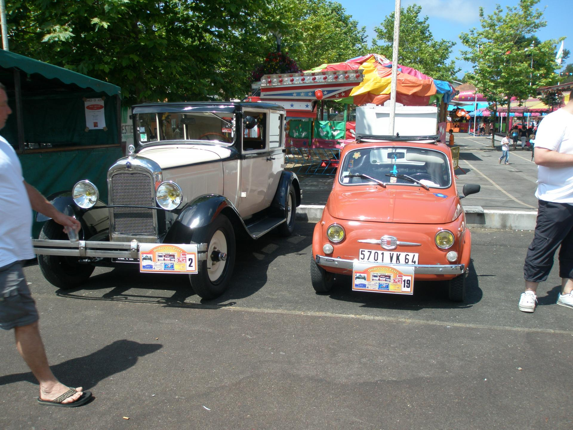 Citroen Rosalie & Fiat 500